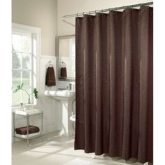 M. Style Waves 72 Inch X 72 Inch Shower Curtain In Chocolate