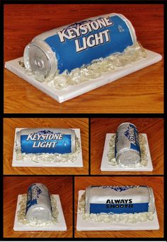 needs to be bud light Cakes For Men, Cakes And More, Cupcakes, Cupcake Cakes, Christmas Desserts, Fun Desserts, Bud Light, Light Beer, Beer Can Cakes