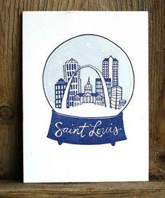 St. Louis letterpress print