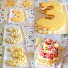 Le Number cake, gâteau d'anniversaire ultra tendance The Number cake, ultra trendy birthday cake Number Birthday Cakes, Number Cakes, Cake Birthday, Cake & Co, Eat Cake, Alphabet Cake, Cake Lettering, Cake Tutorial, Creative Cakes