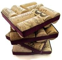 Wine Cork Coasters With Plum Ribbon- Set of Wine Lover's Home Decor, Housewarming Hostess Christmas Wedding Gift, Holiday Entertaining Wine Craft, Wine Cork Crafts, Wine Bottle Crafts, Home Crafts, Fun Crafts, Diy Cork, Wine Cork Coasters, Diy Coasters, Leftover Wine