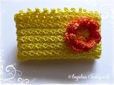 Taschentüchertasche  ♥ SONNENSCHEIN ♥ von Angelas Teddywelt  auf DaWanda.com