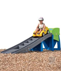 The Step2 Extreme Coaster just got a makeover! Now in blue, green, grey and yellow, this kid's coaster turns any backyard into a mini amusement park.