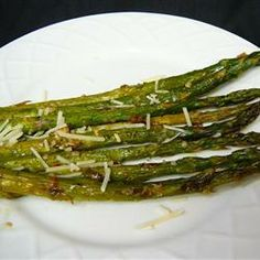 Garlic Parmesan Asparagus----After preparing asparagus in the oven you will never boil it again! This is the perfect accompaniment to lamb or fish. Preparation:10min  ›  Cook:15min  ›  Ready in:25min