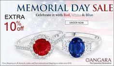 Memorial Day Sale Angara.com Sapphire Jewelry, Natural Sapphire, Coupon Codes, Memorial Day, Wedding Rings, Memories, Engagement Rings, Gemstones, Memoirs