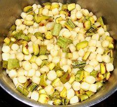 Gnocchi con cipolle e zucchine grigliate | Le mani in pasta