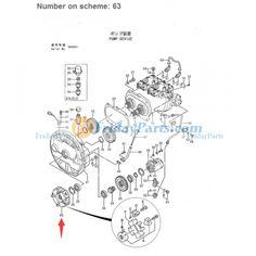 For Komatsu Excavator PC25-1 PC30-7 PC30R-7 PC30R-8 PC350