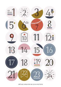Bonjour, bonjour ! On continue le calendrier de l'avent avec des petits stickers numérotés à télécharger, imprimer et coller où vous le souhaitez. Ils seront parfaits pour réaliser un...