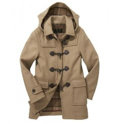 Barbour Classic Duffle Coat in Sandstone Barbour Coats, Barbour Clothing, Barbour Wax Jacket, Barbour International Jacket, University Style, Wax Jackets, Winter Wear, Utility Jacket, Clothes For Sale