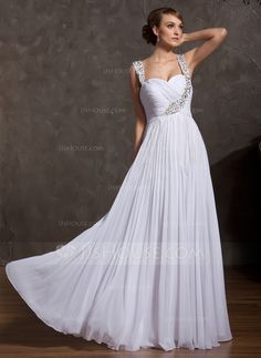 Prom Dresses - $124.49 - A-Line/Princess Sweetheart Floor-Length Chiffon Prom Dress With Ruffle Beading (018043614) http://jjshouse.com/A-Line-Princess-Sweetheart-Floor-Length-Chiffon-Prom-Dress-With-Ruffle-Beading-018043614-g43614?snsref=pt&utm_content=pt