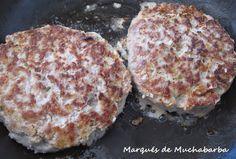 Estas hamburguesas caseras, una vez que las pruebas, te hacen olvidar las que venden ya preparadas. Además las puedes adaptar a tu gusto... Hamburger Seasoning, Muffin, Lunch, Healthy Recipes, Cooking, Breakfast, Food, Albondigas, Burgers