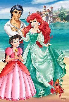 The Little Mermaid Return to the Sea - Ariel and her Family Little Mermaid Tattoos, Little Mermaid Movies, Ariel The Little Mermaid, Ariel Mermaid, Alternative Disney Princesses, All Disney Princesses, Ariel Disney, Princess Melody, Disney Princess Belle