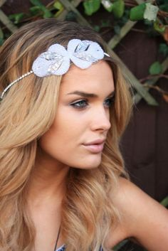 headband - this would be a beautiful accessory for bridesmaids to wear or for a boho chic bride