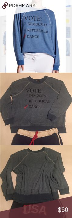Wildfox  Democrat Republican Dance Party 2016 Sz S Wildfox Democrat Republican Dance sweatshirt lightweight material . Sz Small but would fit a Medium, as well. Worn once -EUC 🇺🇸👖⚓️sold out online . 1st pic true color mine were taken at night 🌝 Wildfox Tops Sweatshirts & Hoodies