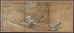 76. Flowers and Birds of the Four Seasons - Kano Sanboku - Edo period (late 17th century)