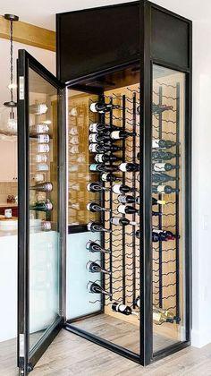 Glass Wine Cellar, Home Wine Cellars, Wine Cellar Design, Cl Design, House Design, Custom Design, Kirkland House, Wine Cellar Basement, Home Bar Designs