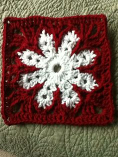 Snowflake Granny Square. Using different shades of blue.