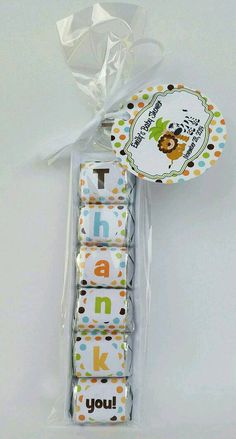 Safari Baby Shower Favors-Jungle Baby Shower by BeckyBollinDesigns