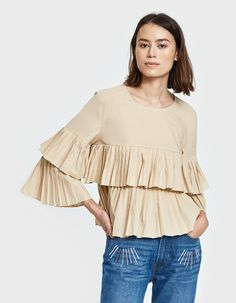 Carlita Top in Taupe
