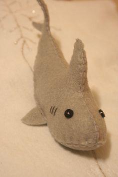 Felt Shark Softie by CristinaRTC, via Flickr  shark doll