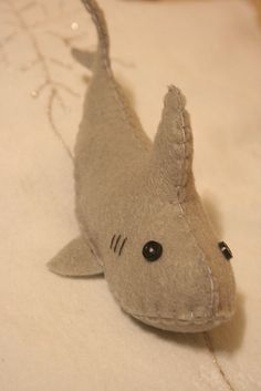 Felt Shark Softie by CristinaRTC, via Flickr  shark doll