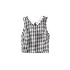 Checked Peter Pan Collar Blouse ($28) ❤ liked on Polyvore featuring tops, blouses, checked blouse, checkered top, checkered blouse, peter pan collar blouse and peter pan collar top