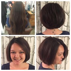 Chic bob on Maile by Ashley -- she even donated her hair to a charitable organization!