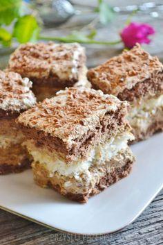 Cappuccino z kokosową wkładką Polish Desserts, Polish Recipes, Baking Recipes, Cookie Recipes, Dessert Recipes, Pumpkin Cheesecake, Food Cakes, How Sweet Eats, Cake Cookies