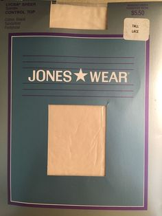 Vintage Jones Wear Size Tall Lace Off White Control Top Sandalfoot Pantyhose  | eBay