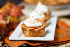 Mini Pumpkin Pies- I don't know if I can be without pumpkin pie.