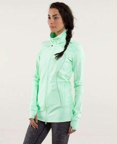 Lululemon Nice Asana Jacket $118.00Fresh Teal/Mini Hyper Stripe Fresh Teal ~