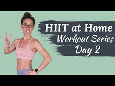 HIIT at home workout series Day No equipment at home workout Fat burning HIIT workout routine. This full body HIIT at home workout requires no equipment and is great for beginners who workout at home. Hiit Workout Routine, Flat Abs Workout, Hiit Workout At Home, Dumbbell Workout, At Home Workouts, Waist Workout, Workout Plans, Workout Videos, Core Exercises For Women