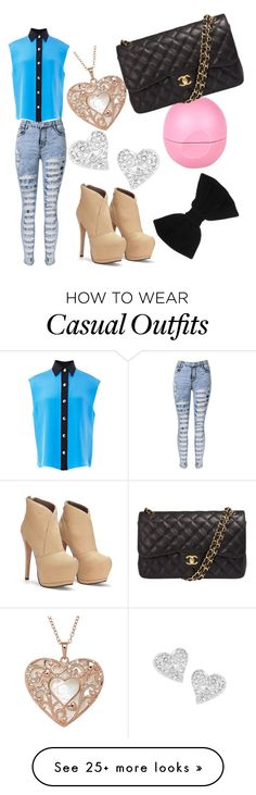 """""""casual pero fashion"""" by ivymikelarosasmendizabal on Polyvore featuring FAUSTO PUGLISI, River Island, Chanel, Vivienne Westwood and claire's"""