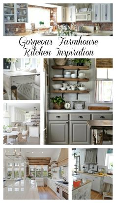Gorgeous Farmhouse Kitchen Inspiration. If you love farmhouse kitchens, this is the post for you. 10 gorgeous farmhouse kitchens that are sure to inspire!