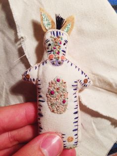 Megan Ivy Griffiths — My hand embroidered dolls all...