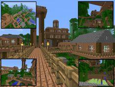 minecraft village   Minecraft - Jungle Village by Virenth
