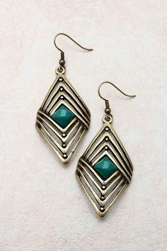 Paris Green Rella Earrings