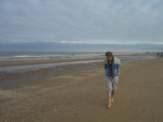 Walking along the North Sea looking for shells