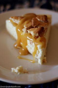 Cheesecake au caramel beurre salé & biscuits Petit Lu