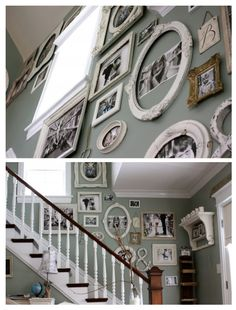 A terrific family frame wall. Love!