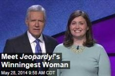 Latest News:  Meet Jeopardy!'s Winningest Woman.  Answer: She predicted in her eighth grade yearbook that she would someday be a Jeopardy! champion. Question: Who is Julia Collins? Collins, a 31-year-old resident of the Chicago suburb of Wilmette, has made good on her prediction, and then some. Get all the latest news on your favorite celebs at www.CelebrityDazzle.com!