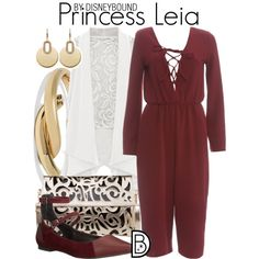 Princess Leia by leslieakay on Polyvore featuring AX Paris, Rebecca Minkoff, Kenneth Jay Lane, Michael Kors, disney, disneybound and starwars