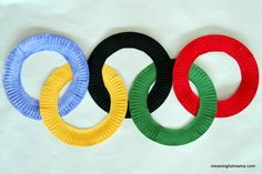 Paper Plate Olympic Rings- pinned by @PediaStaff – Please Visit  ht.ly/63sNt for all our pediatric therapy pins