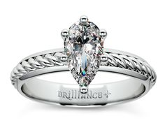 Pear Twisted Rope Comfort Fit Solitaire Engagement Ring in Platinum  http://www.brilliance.com/engagement-rings/twisted-rope-solitaire-ring-platinum-3mm