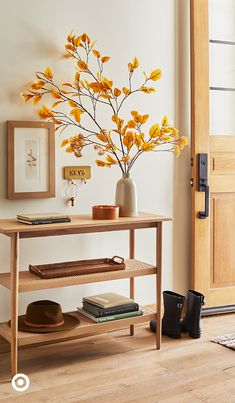 Fall Home Decor, Autumn Home, Diy Home Decor, Home Bedroom, Bedroom Decor, Console Table Styling, Fall Entryway, Autumn Decorating, Mellow Yellow