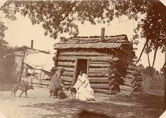 Delaware Lenape Log House by Wisconsin Historical Images, via Flickr