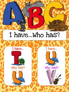 $1 I have... Who has? Game to help students learn the alphabet.  Also available as part of a bundle package at a discount price.  Click link below for more info about the images used to make this resource (Images © Graphics Factory) http://jasonsonlineclassroom.com./graphics-factory/