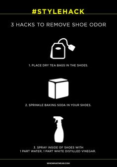 3 ways to keep your shoes fresh-smelling using common household products.