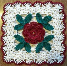 Ravelry: Rose Potholder pattern by Anne Cabot