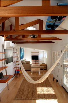 yes to inside hammocks! beach bungalow/fractal construction